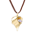 necklace-00631 xuping 14k gold chain Leaves shape women Leather necklace