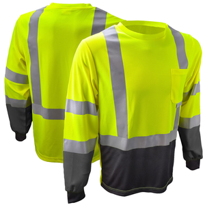 Custom cheap polyester long sleeve reflective work uniform