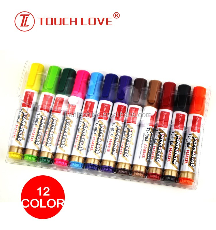 12 colour Permanent marker