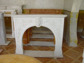 Cheap White Marble Indoor Round Fireplace Buy Round