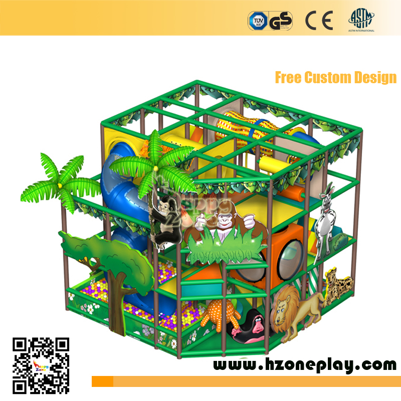 Jungle Series Indoor Playground Equipment in Shipping Mall for Children
