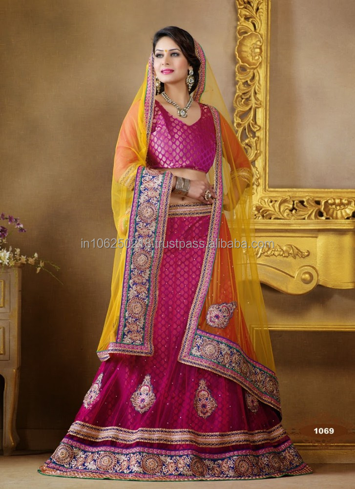 Indian Wedding Lehenga Choli 2015 R 5188