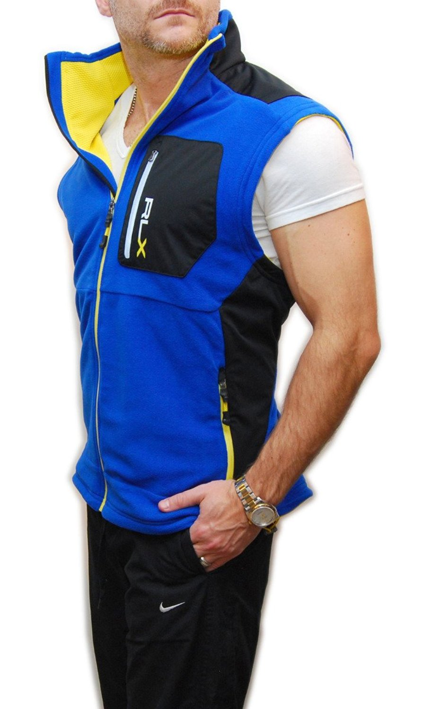 56b9e68c3 Buy Ralph Lauren RLX Mens Polo Athletic Running Gym Fleece Vest Blue ...
