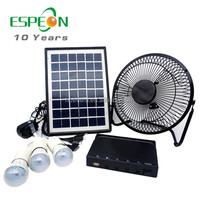 5W solar power lighting system kits 12V and 5V for LED bulb,DC fan and mobile phone charging