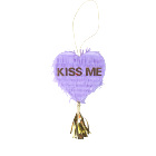 Wholesale Custom Valentine's day purple foil adult mini pinata KISS ME pinata wedding for Party Decoration ,Holiday with tassel