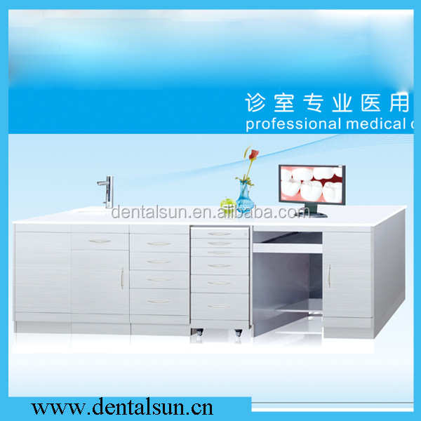 Dental Furniture Cabinet / Dental Stainless Steel Cabinet /Dental Handle Type Medical Cabinet