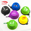 Portable Custom Logo Foldable 350ML BPA Free Collapsible Feeding TPE Silicone Travel Dog Pet Cat Food Water Bowl