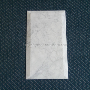 305mm*610mm polished and beveled statuary white marble flooring tile