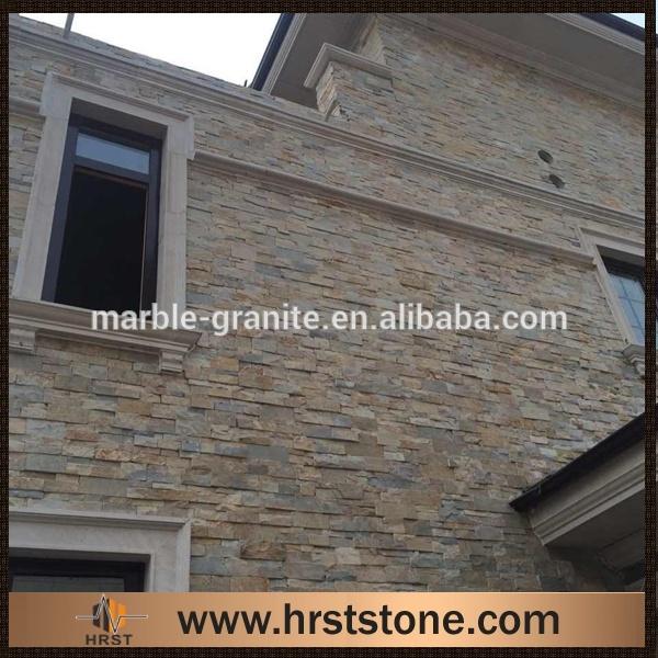 exterior de pared piedra azulejo de la pizarra
