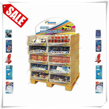 Brand new promotion carton pallet display cell phone charger counter display