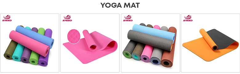 High density Private label mixed color oem yoga mat with carrying bag