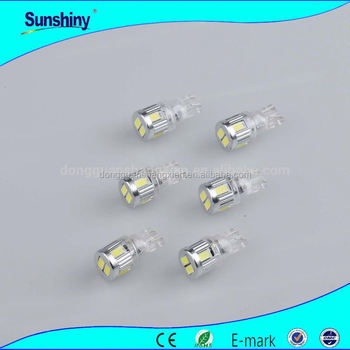 Diffusion Type T10 Car Led Light Bulb Yellow