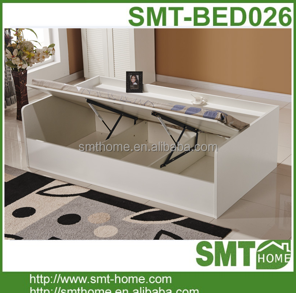 melamine mdf and particle board china single <strong>bed</strong> with storage drawer