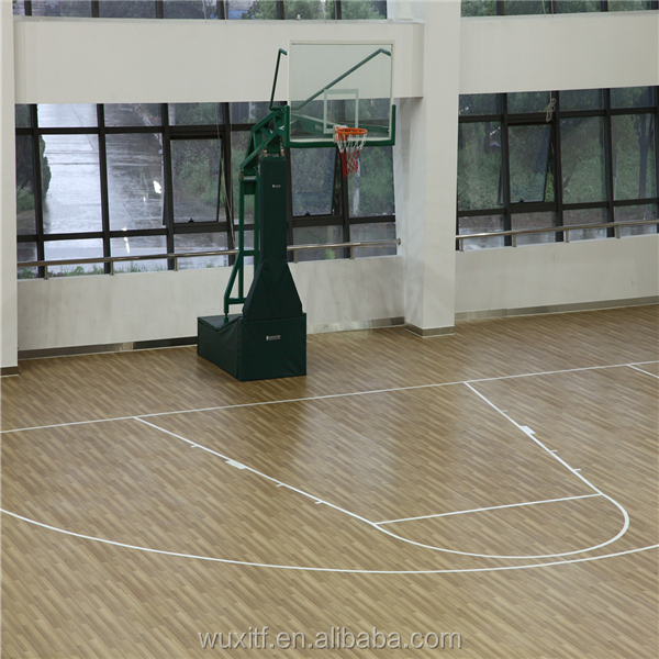 3.5mm~12mm Best price PVC flooring,anti-slip floor paint for basketball court