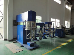The double planet mixer is used to make adhesive, this is very high viscosity