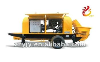 trailer mounted concrete pump, concrete pumping small