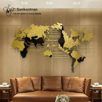 Handmade Home Decoration 3d Large Wall Hanging Decor Metal World Map ...