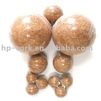 Various natural cork ball