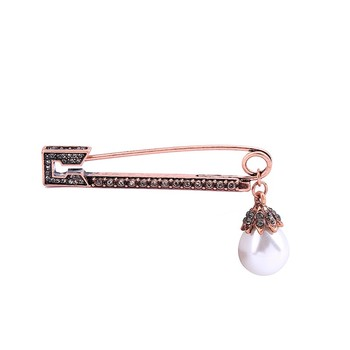 f1a6f09b4312c Ts00164 Rose Gold Simple Brooches Safety Pin - Buy Brooches,Brooches  Pins,Fancy Safety Pins Product on Alibaba.com