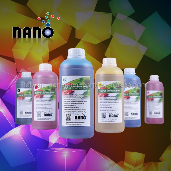 Wide color gamut and high adhesive indoor use Eco Solvent Ink compatible for Epson print head