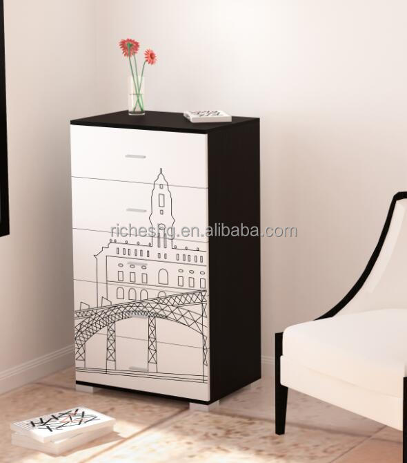 5 schublade design spanplatten schmale schrank f r flur. Black Bedroom Furniture Sets. Home Design Ideas