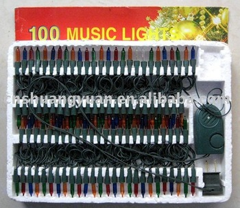 promotion musical christmas lightmulticolor christm lights with music