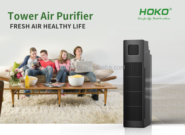 Hepa Filter CADR 160m3/h Touch Control Air Cleaner, Wifi Optioneel Thuis Luchtreiniger