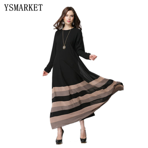 Turkish abaya women rainbow printed muslim dress stitching islamic abayas Robe musulmane vestidos longos clothes dubai kaftan