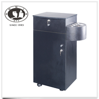 DTY professional custom china beauty salon equipment brush nickel handles wall mounted cabinet