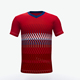 team training red white soccer jerseys cheap price