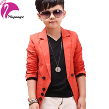 New Brand 2016 Spring Autumn Fashion Children s Boys Coats Solid Black Orange Gentleman Blazers Jackets