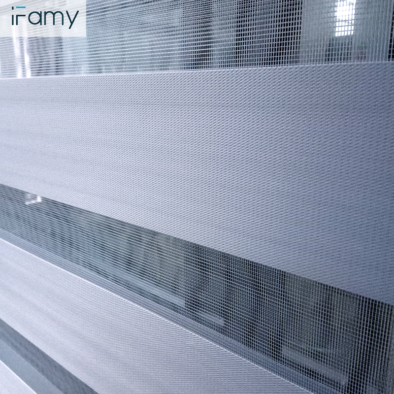 Wholesale zebra roller blinds with cover day/night grey zebra blind
