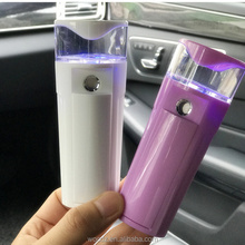 New facial beauty Products portable USB rechargeable mini facial steamer facial nano mist sprayer