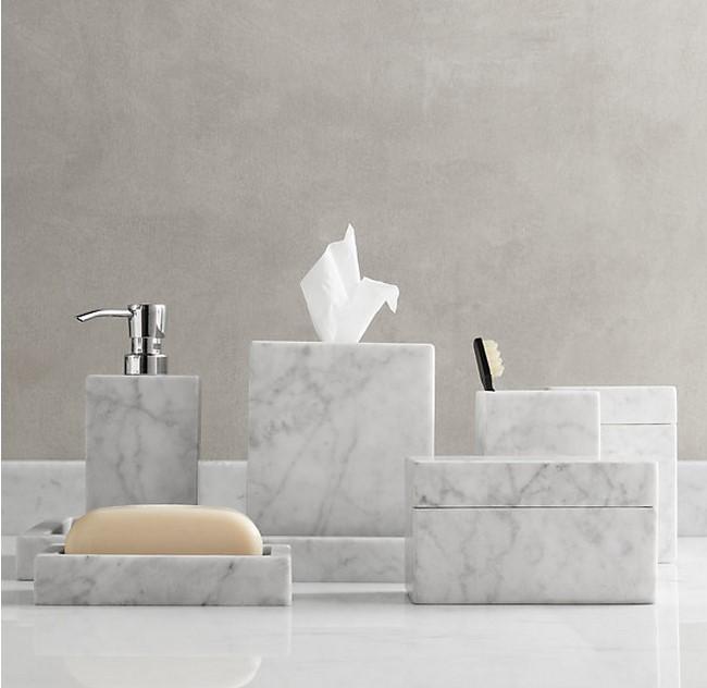 Noir marbre bain ware salle de bains accessoires ensemble for Ensemble salle de bain porte savon
