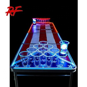 oem 8ft folding led glowing beer pong table