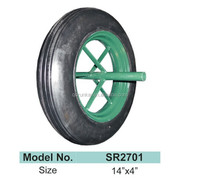 solid rubber wheel 14*4/solid wheel