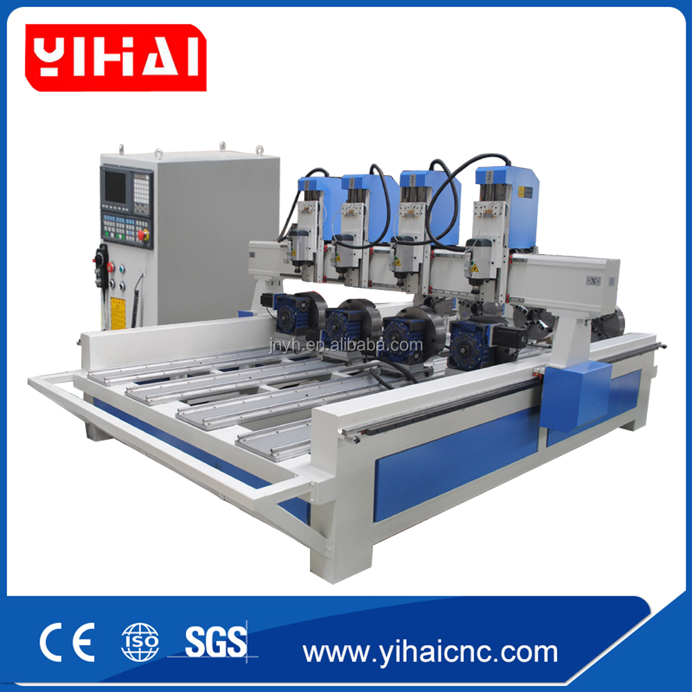 Three heads 3d relief cnc wood router china mainland wood router - Multi Spindle Cnc Router Multi Spindle Cnc Router Suppliers And Manufacturers At Alibaba Com