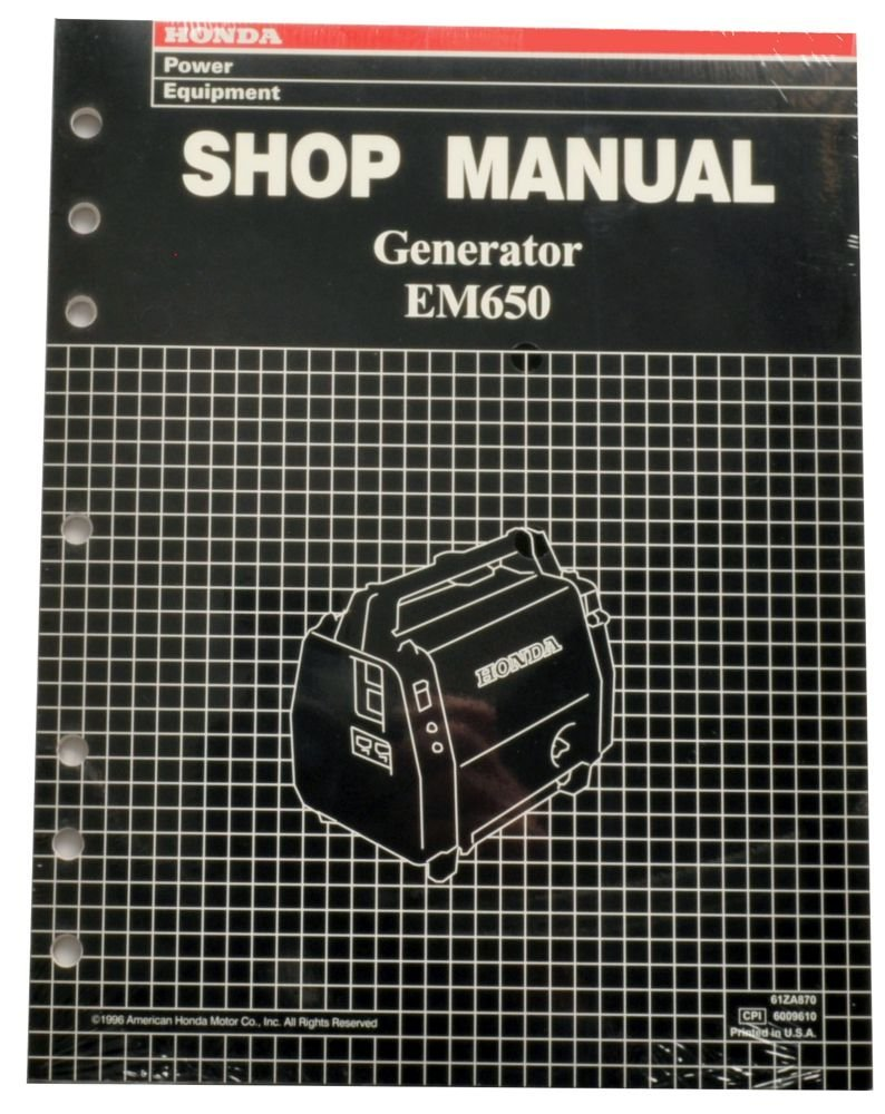 Get Quotations · Honda EM650 Generator Service Repair Shop Manual