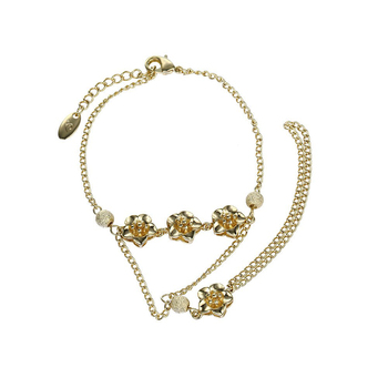 ee289fd62 74101 Xuping flower14k gold hand chain fashion design, women for jewelers,  fancy chain bracelet