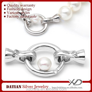 XD S643 fresh water pearl 925 sterling silver clasp