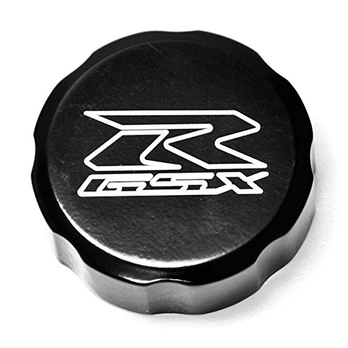 Krator Motorcycle Fluid Black Reservoir Cap Logo Engraved For 2005-2012 Suzuki GSXR 1000