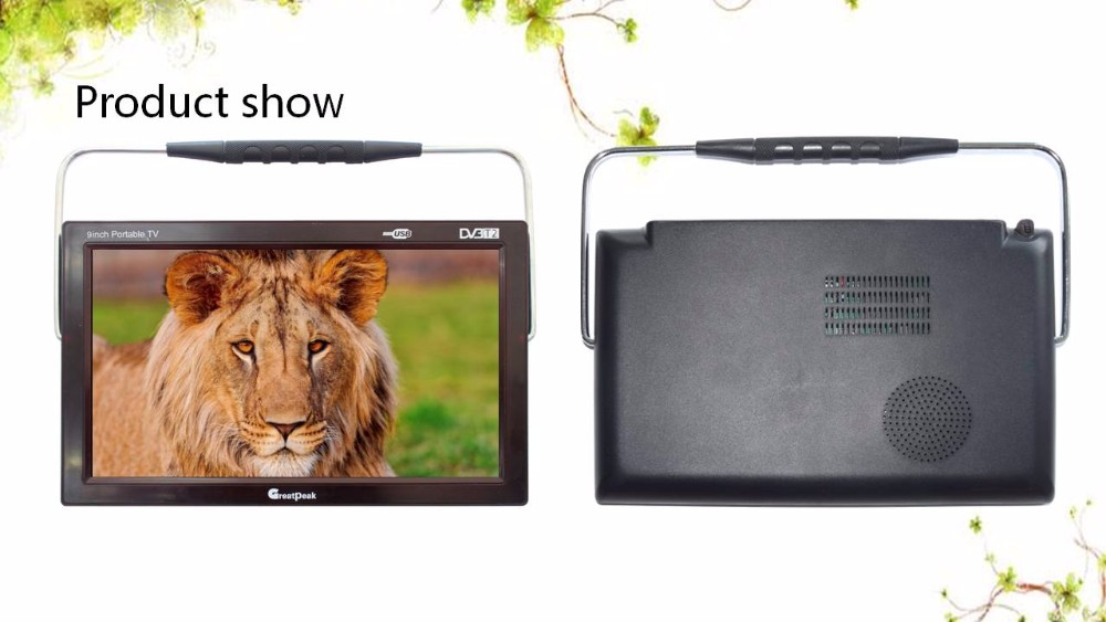 Low Price Portable Dc12V Power Supply 9 Inch flat screen Portable Dvb-T2 Lcd TV