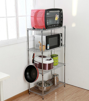 Chrome Plated Dismountable Kitchen Storage Racks Kitchen Wire Racks