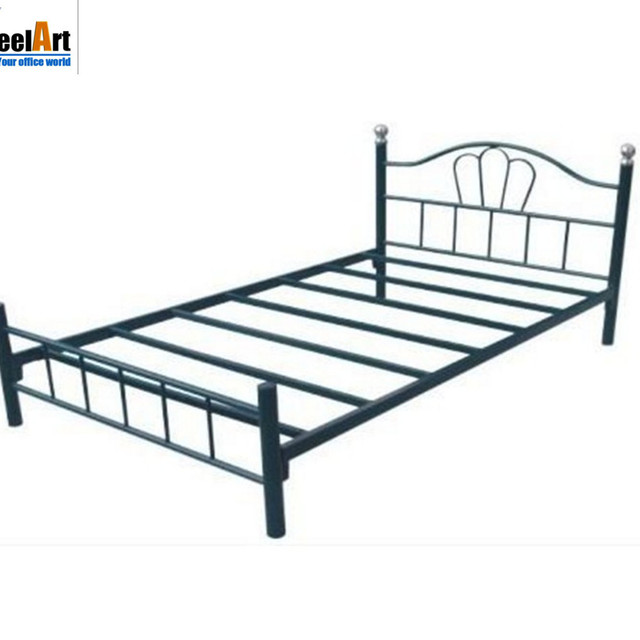 Single Metal Frame Iron Pipe Bed With Best Price