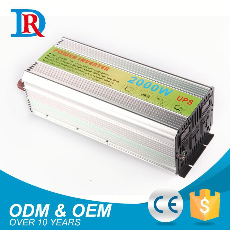 Superior Quality Home Use 2000W Ups Dc To Ac Power Inverter With Battery Charger
