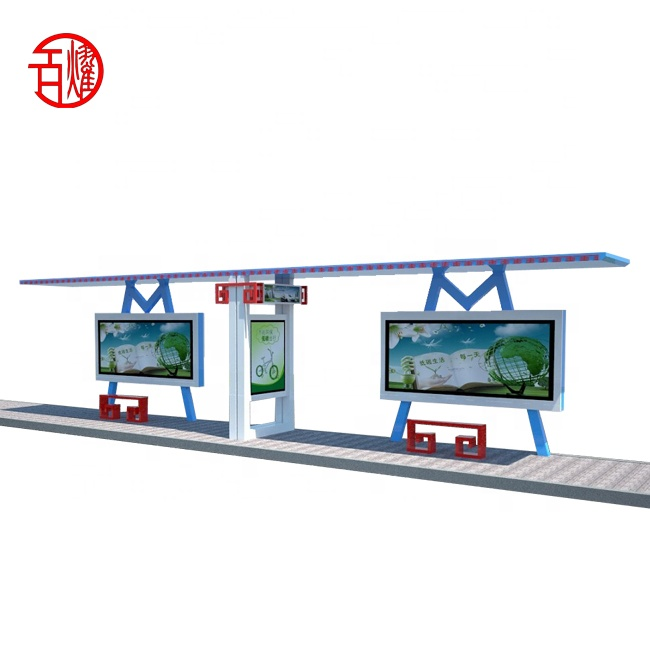 Outdoor billboard led licht display scrollen bus stop bus shelter