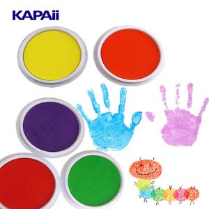 colorful children fingerprint stamp ink absorber pad