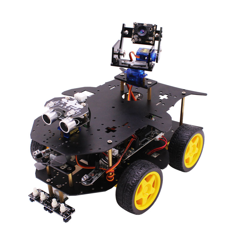 2018 Wireless WIFI video 4WD robot mobil kit dengan HD kamera untuk Raspberry PI 3B + RC programmable robot remote control pemantauan