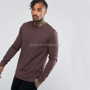 High quality cotton jersey custom crew neck sweatshirt