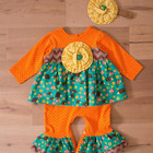Hot selling baby girl fall winter clothes wholesale kids clothing infant girls ruffle bubble boutique floral rompers